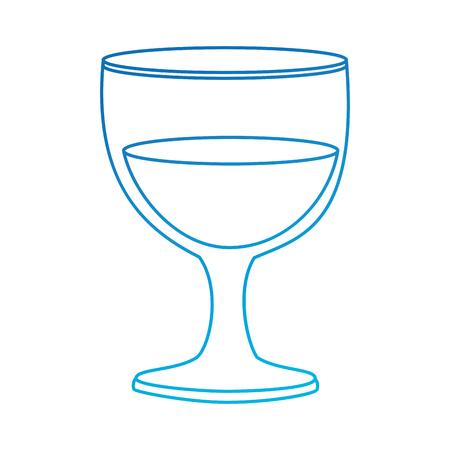 ontwerp van de kelk het glas geïsoleerde pictogram vectorillustratie