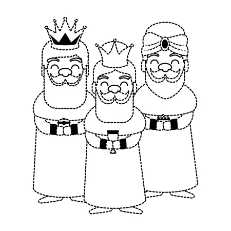 왕 마법사 아바타 문자 벡터 일러스트 레이션 디자인 일러스트