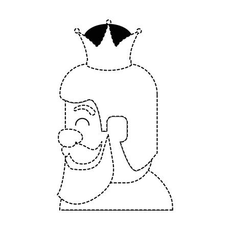 king wizard avatar character vector illustration design Иллюстрация