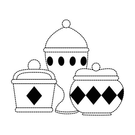gouden containers en kelk vector illustratie ontwerp Stock Illustratie
