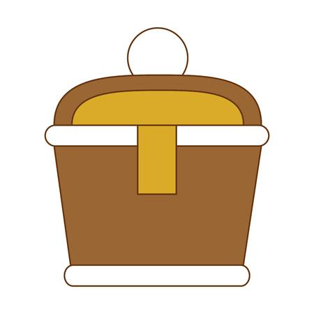 Gold Container isoliert Symbol Vektor-Illustration , Design ,