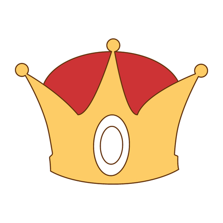 king crown isolated icon vector illustration design Stock Vector - 93736048