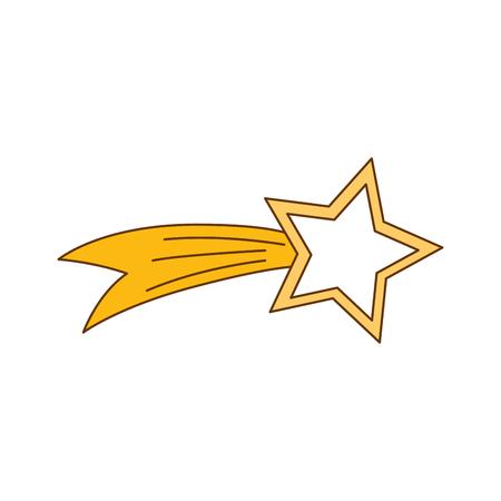 shooting étoile isolé icône du design d & # 39 ; illustration vectorielle
