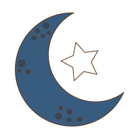 moon with stars icon vector illustration design Иллюстрация