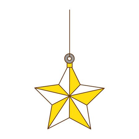 star hanging decorative icon vector illustration design