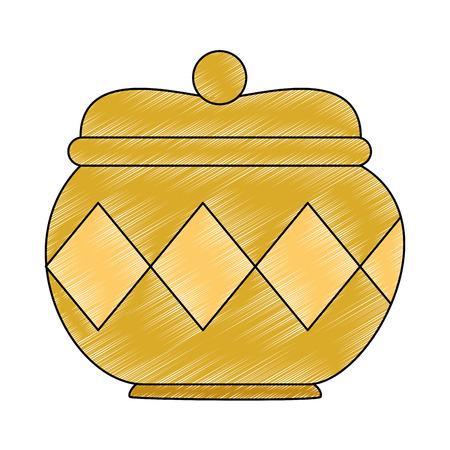 ゴールドコンテナ×アイコンベクトルイラストデザイン  イラスト・ベクター素材