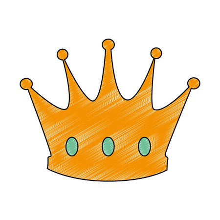 king crown isolated icon vector illustration design Imagens - 93736473
