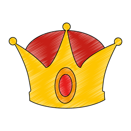 king crown isolated icon vector illustration design Imagens - 93736131
