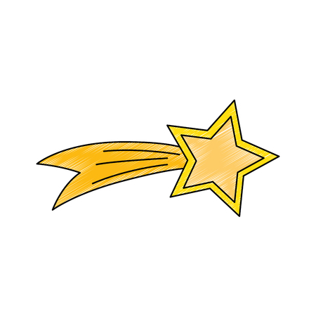 Shooting Star isolated icon vector illustration design