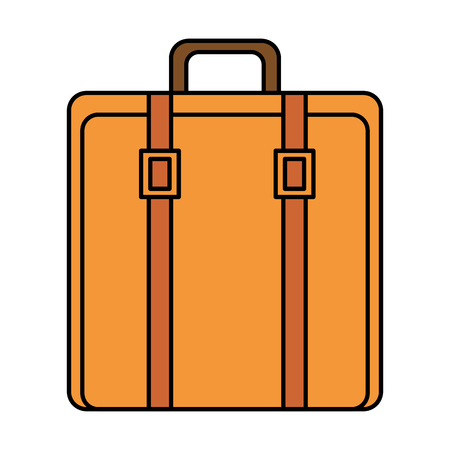 suitcase bag isolated icon vector illustration design