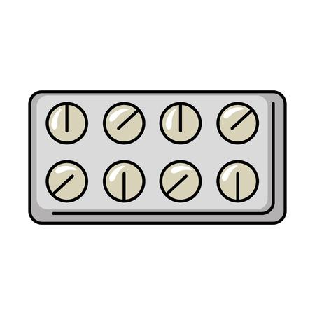 pillen drugs geïsoleerd ic. op vector illustratie ontwerp