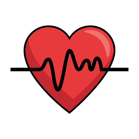 heart cardio isolated icon vector illustration design. Ilustrace