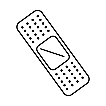 cure band isolated icon vector illustration design. Ilustração