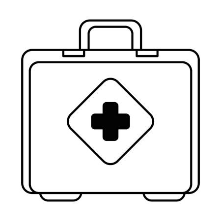medical kit isolated icon vector illustration design. Ilustracja