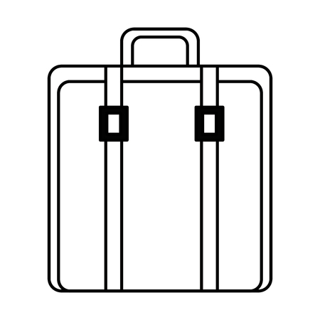 suitcase bag isolated icon vector illustration design.