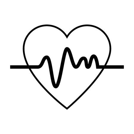 Hart cardio geïsoleerd pictogram vector illustratie ontwerp. Stockfoto - 93731261