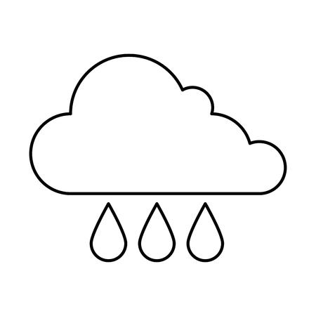 weather cloud rainy icon vector illustration design Stock Photo