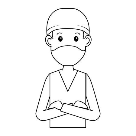 外科医医師アバターキャラクターアイコンベクトルイラストデザイン 写真素材