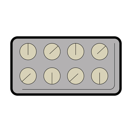 Pillen drugs geïsoleerd pictogram vector illustratieontwerp Stockfoto - 93736283