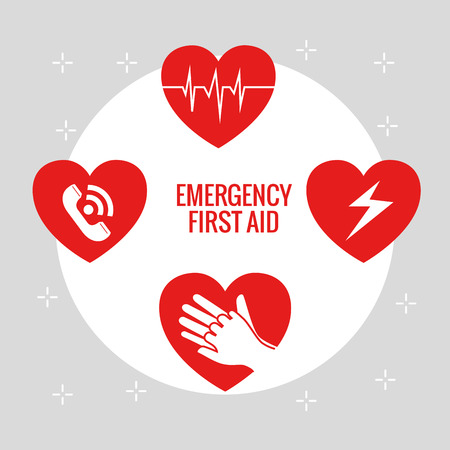 emergency first aid icons vector illustration design Zdjęcie Seryjne - 93756018
