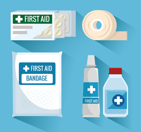 emergency first aid icons vector illustration design Stok Fotoğraf - 93756025