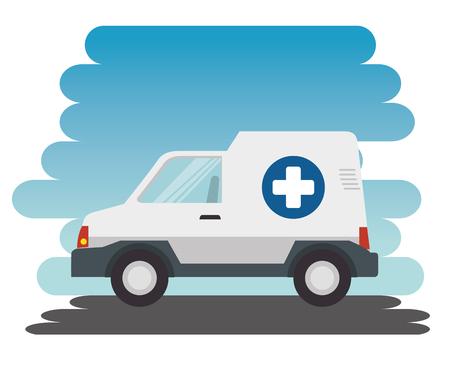 ambulance car isolated icon vector illustration design