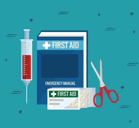 emergency first aid icons vector illustration design Stok Fotoğraf - 93756038
