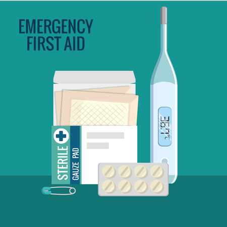 emergency first aid icons vector illustration design Zdjęcie Seryjne - 93736351
