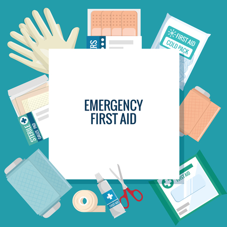 emergency first aid icons vector illustration design