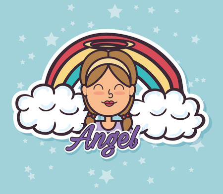 angel Fairy Godmother pop art vector illustration design Illustration