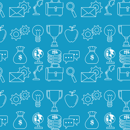 Success business set icons vector illustration design.