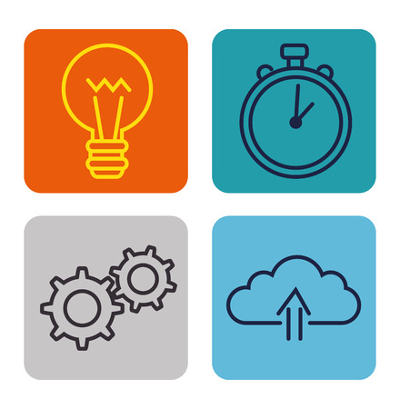 Erfolg Business Set Icons Vektor-Illustration Design Standard-Bild - 93756184