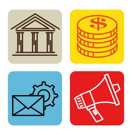 Erfolg Business Set Icons Vektor-Illustration Design Standard-Bild - 93756186
