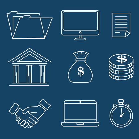 Erfolg Business Set Icons Vektor-Illustration Design Standard-Bild - 93736434