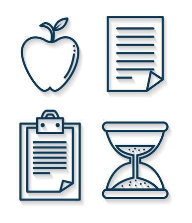success business set icons vector illustration design