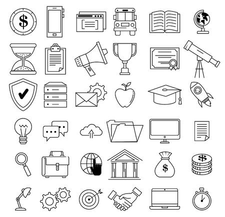 Erfolg Business Set Icons Vektor-Illustration Design Standard-Bild - 93736443