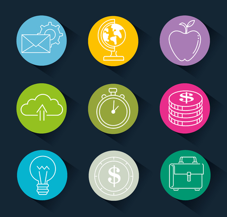 Erfolg Business Set Icons Vektor-Illustration Design Standard-Bild - 93736455