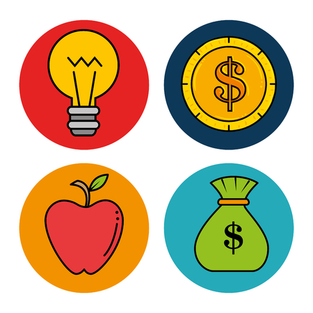 Education school set icons vector illustration design. Çizim