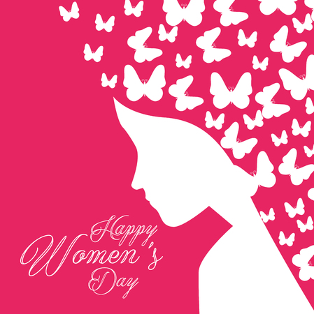 Happy women's day celebration postcard vector illustration design