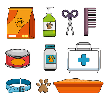 Pet shop set icons vector illustration design.