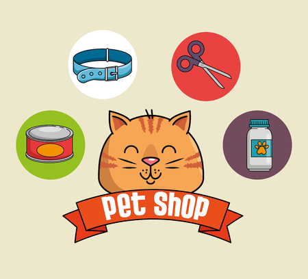 pet shop set icons vector illustration design