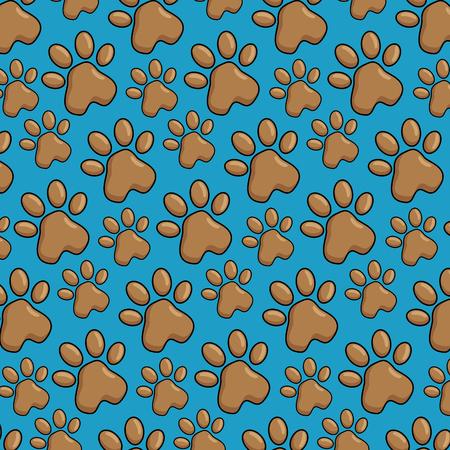 A pet paws pattern background vector illustration design