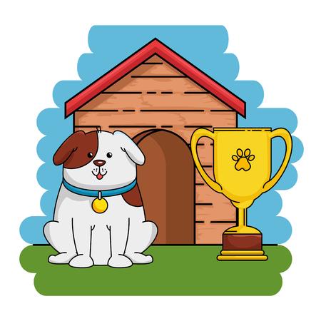 Een vector de illustratieontwerp van dierenwinkel vastgesteld pictogrammen