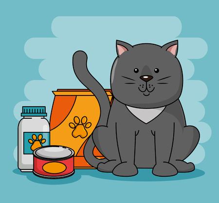 Un magasin d & # 39 ; animaux mis icônes illustration vectorielle conception Banque d'images - 93737135
