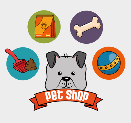A pet shop set icons vector illustration design Ilustracja