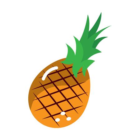 ananas fruit pictogram afbeelding vector illustratie ontwerp