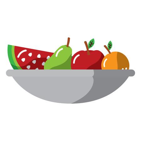fruitschaal pictogram afbeelding vector illustratie ontwerp