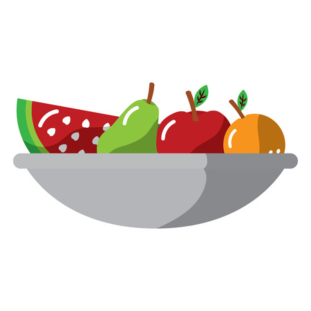 fruit bowl icon image vector illustration design Vettoriali