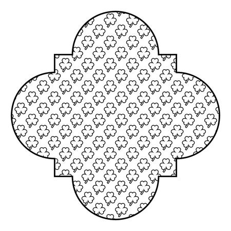 pattern shape label st patrick day clover decoration vector illustration