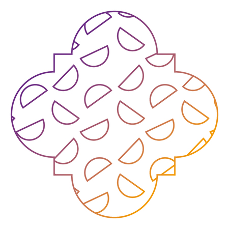 シームレスなパターンラベル形状半円幾何学的メンフィススタイルベクトルイラストぼかしラインデザイン
